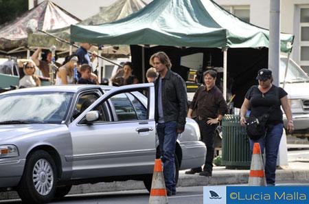 Gravando - Sawyer na temporada 6 de Lost