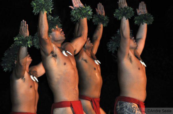 Em um luau havaiano