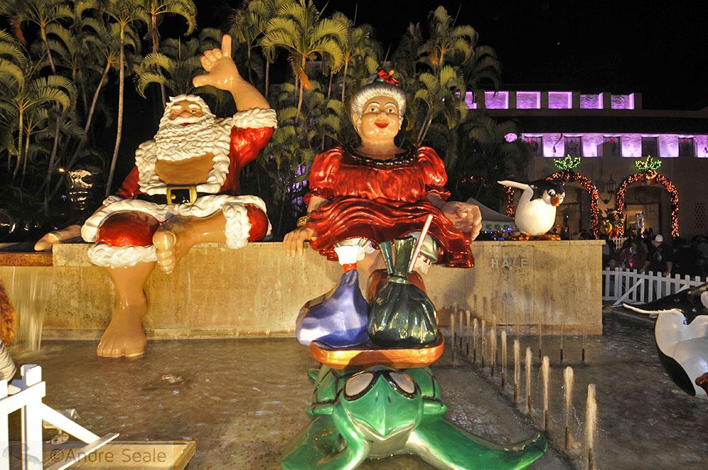 Papai Noel e Mamãe Noela no Havaí