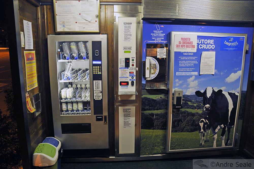 Sustentabilidade: Máquina de leite - Riva Del Garda - Itália