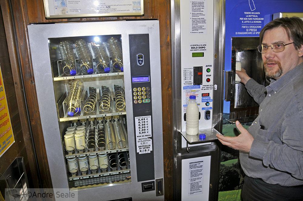 Máquina de leite - sustentabilidade comunitária