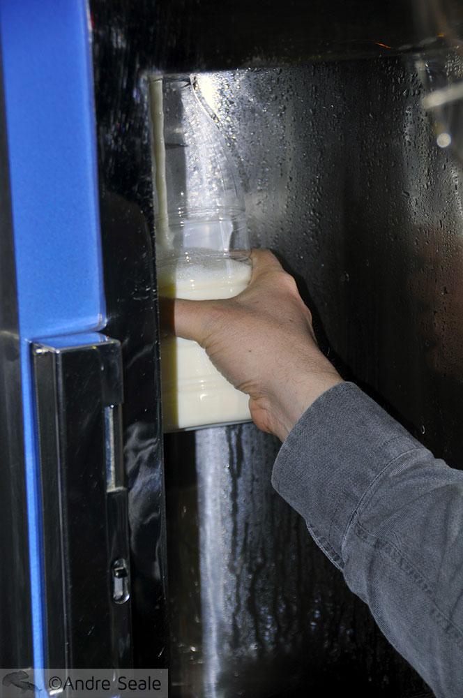 A máquina de leite fresco
