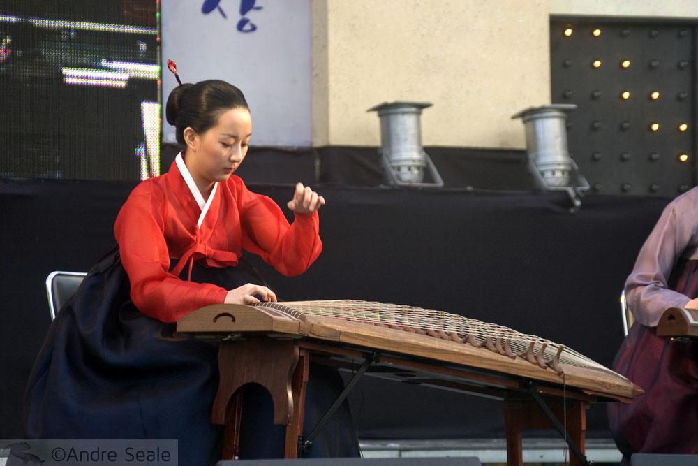 Apresentação de música tradicional coreana - Geoje