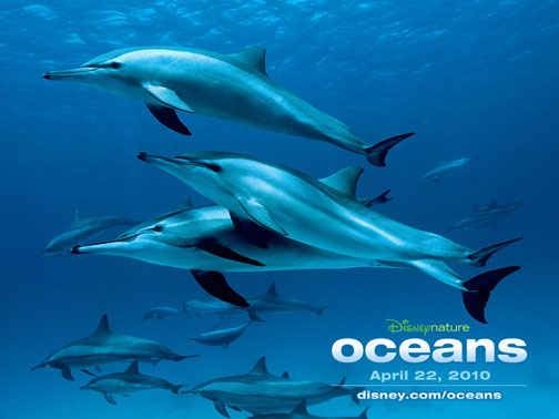 Cartaz de Oceans - Disney - mergulho no mar