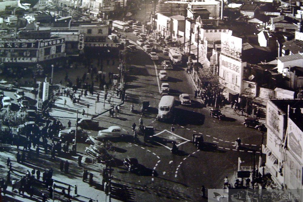 Shibuya em 1953 - Tóquio - Japão