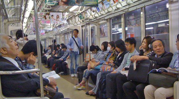 Pelo metrô de Tóquio