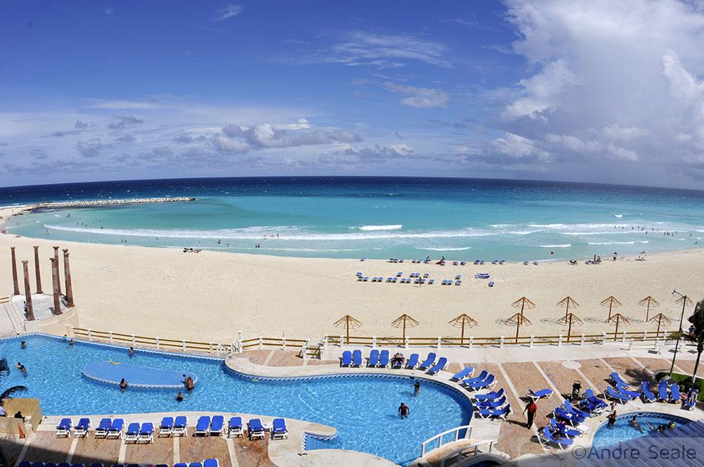 Resort em Cancún - México - temporada de furacões no Caribe