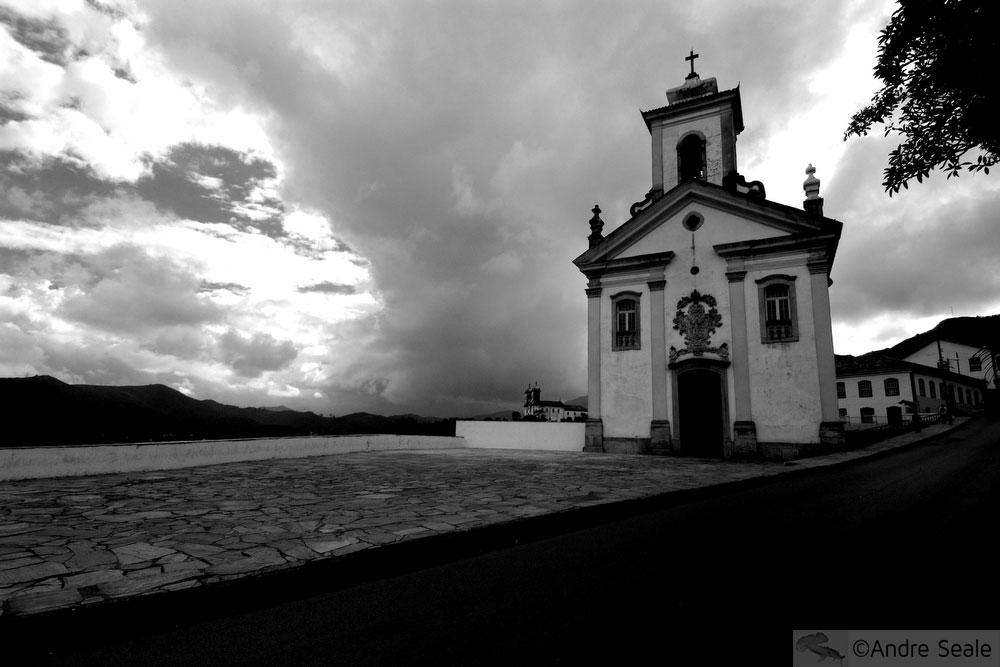Brasil em preto e branco - Igreja - Ouro Preto