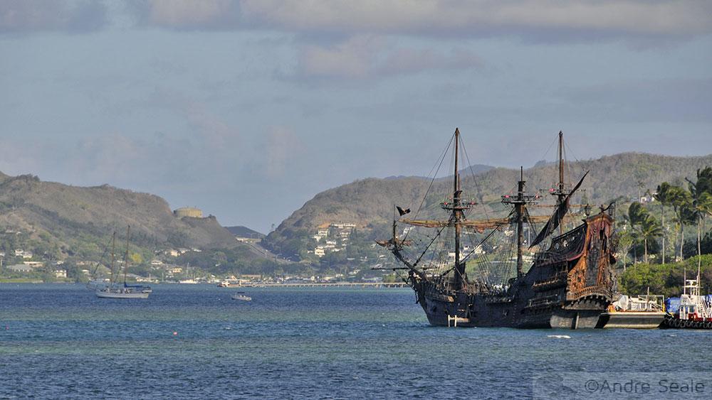 Navio dos Piratas do Caribe