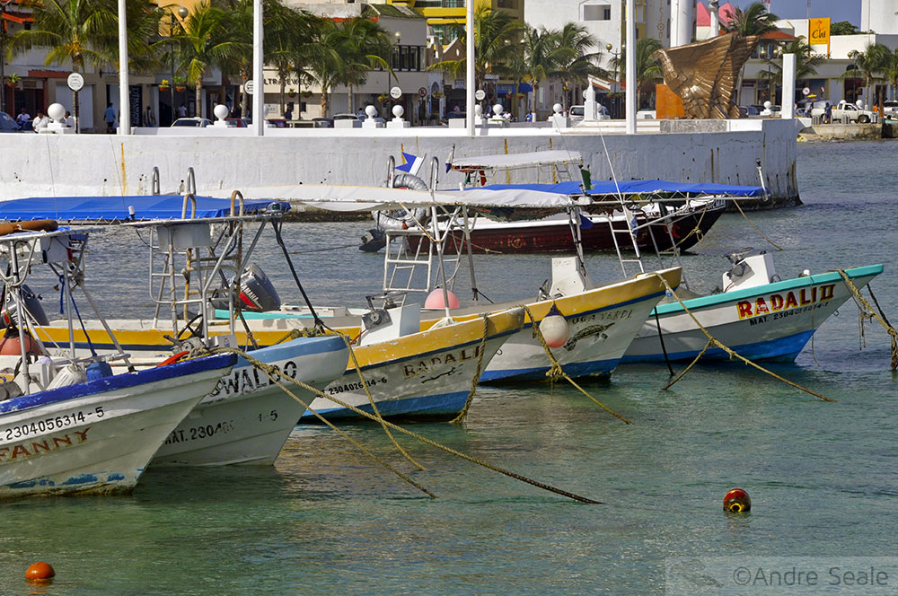 Barcos em Cozumel - México