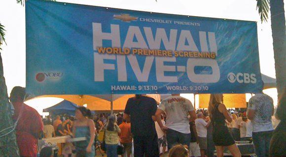 "Na premiere de '""Hawaii 5-0″ – ou quase"