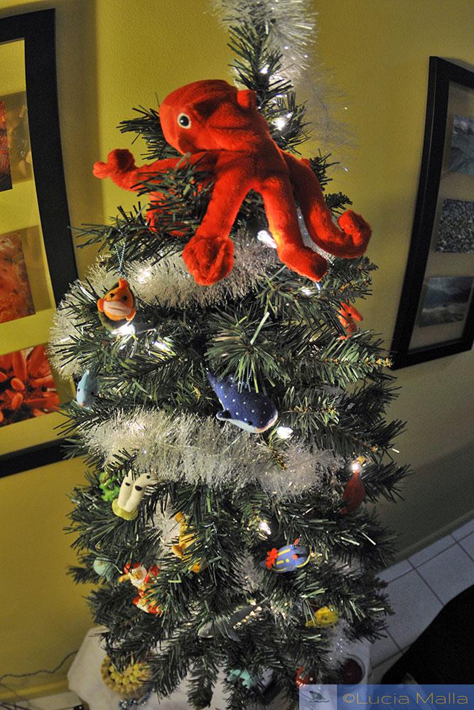 Árvore de Natal marinha