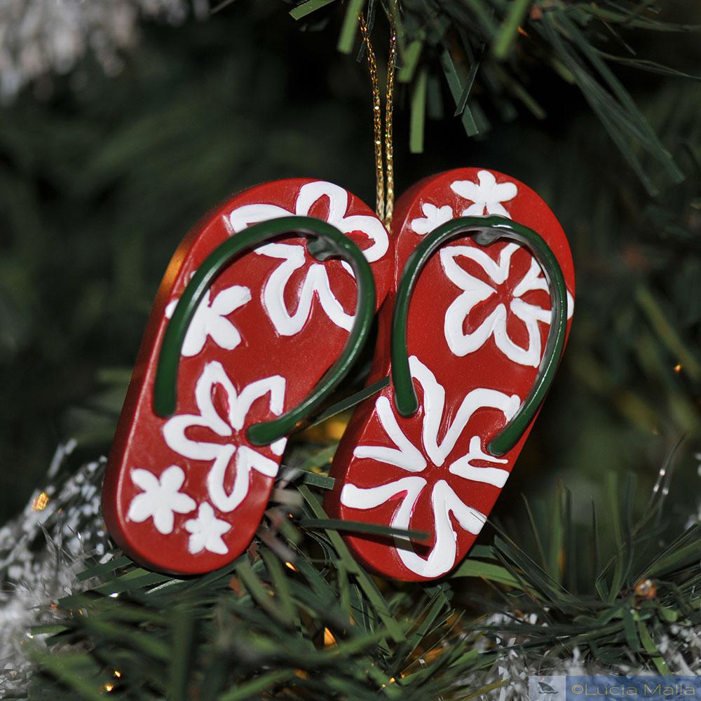 enfeite havaiano de Natal