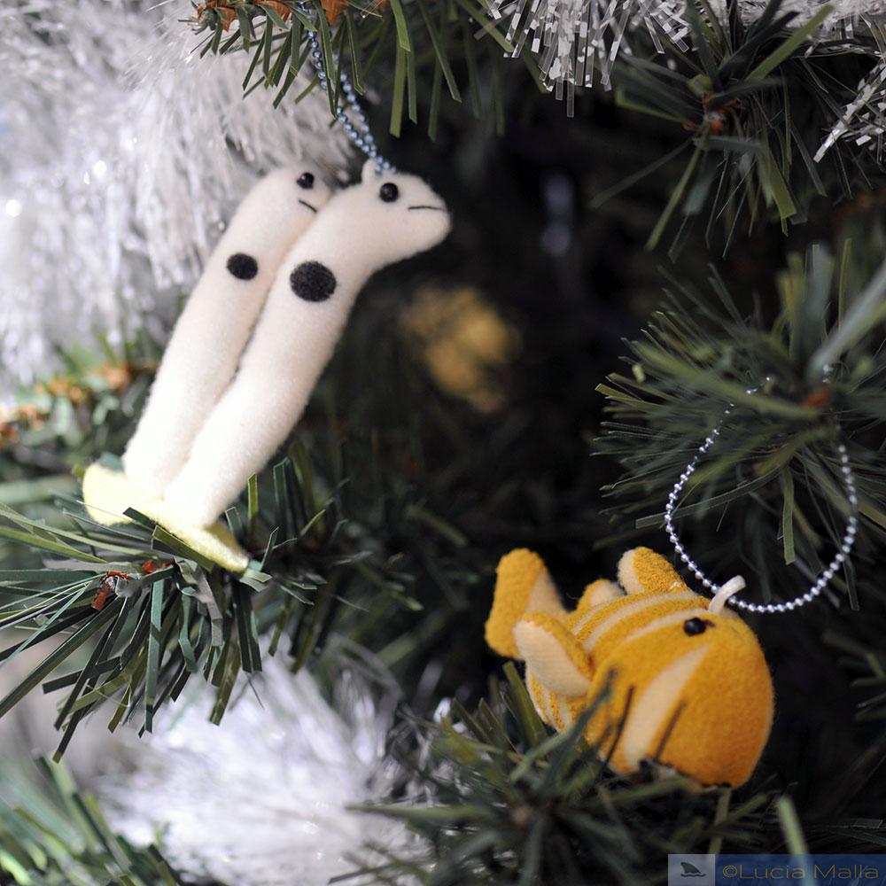 enfeite - de árvore de Natal marinha