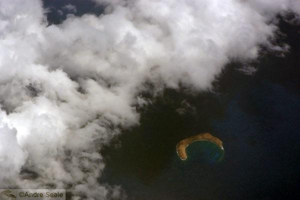 Cratera de Molokini - Vista aérea - Maui