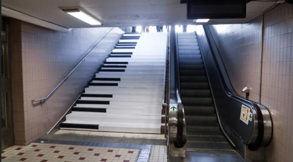 Escada rolante ou escadas?