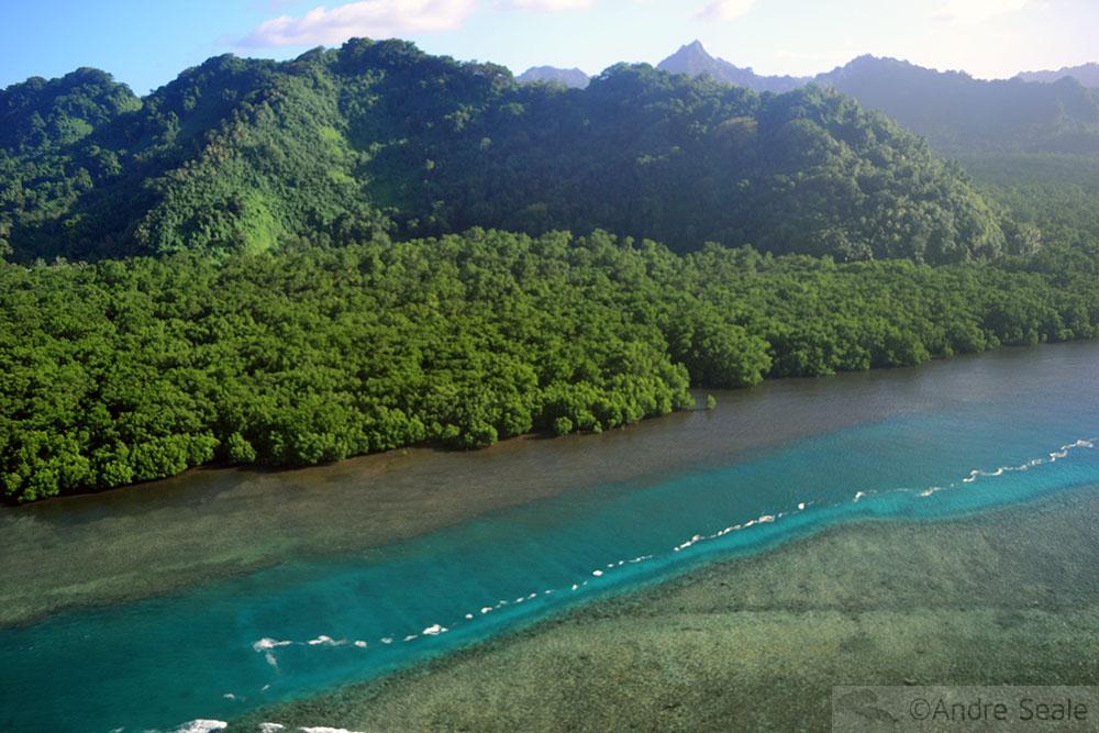 Ilha de Kosrae - Micronésia - vista do Island Hopper