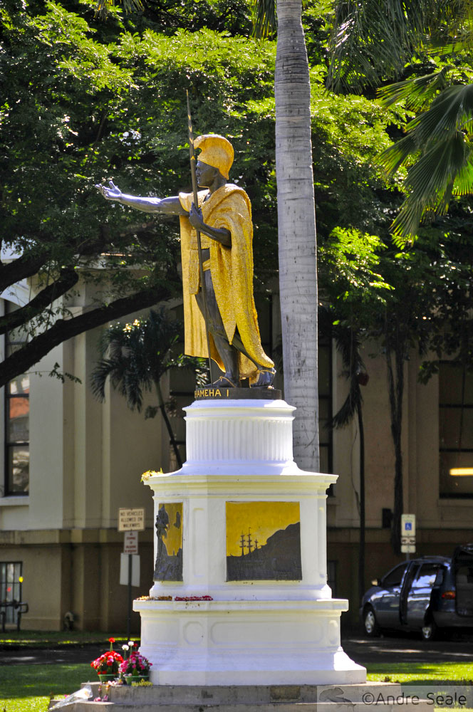 Estátua do Rei Kamehameha I - Oahu - Havaí
