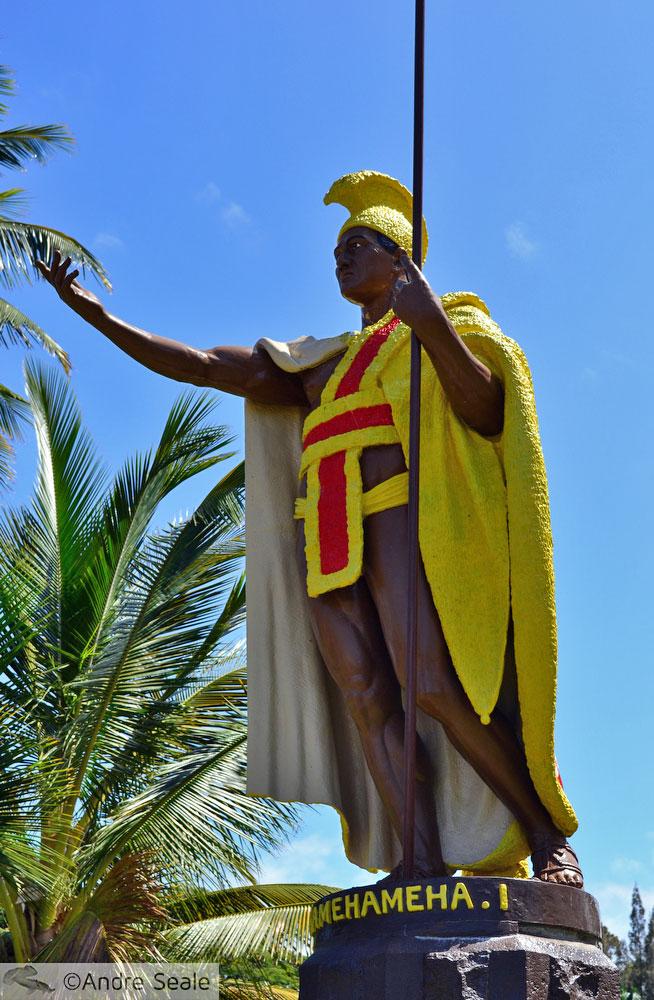 Estátua do Rei Kamehameha I em Kapa'au - Big Island - Havaí