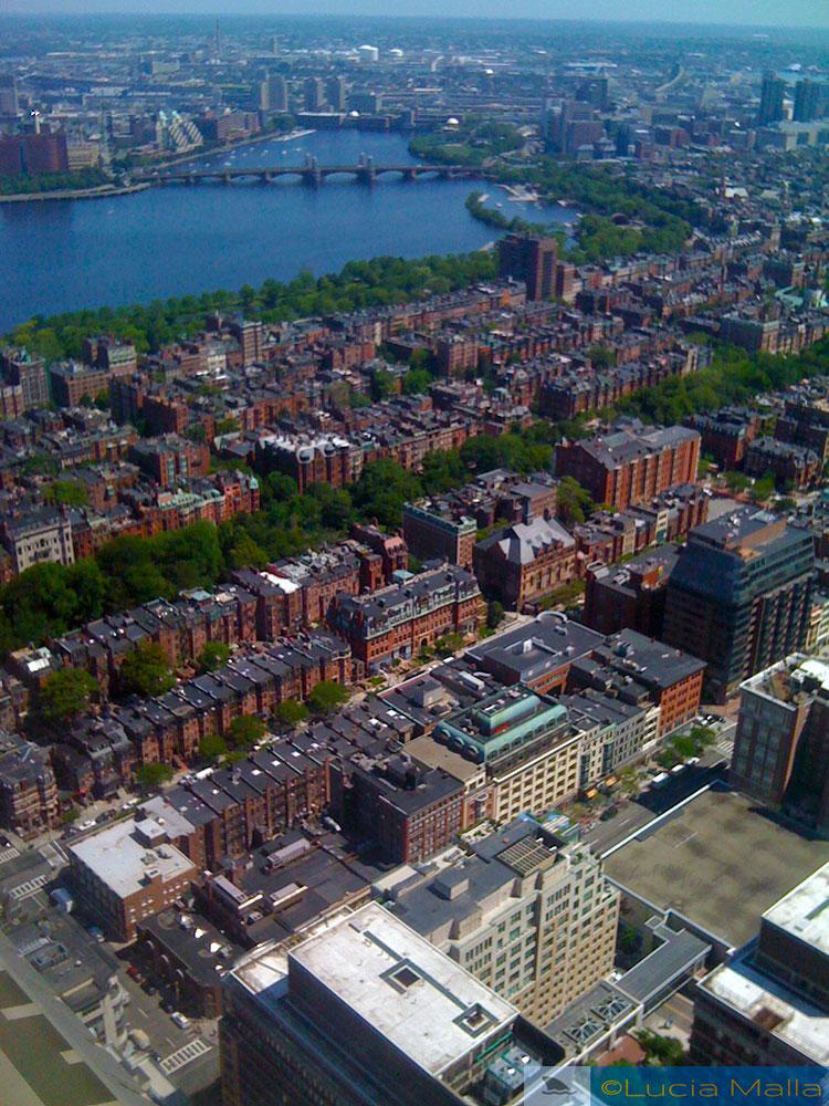 Boston e Cambridge - Boston - vista do Observatório do Prudential Center