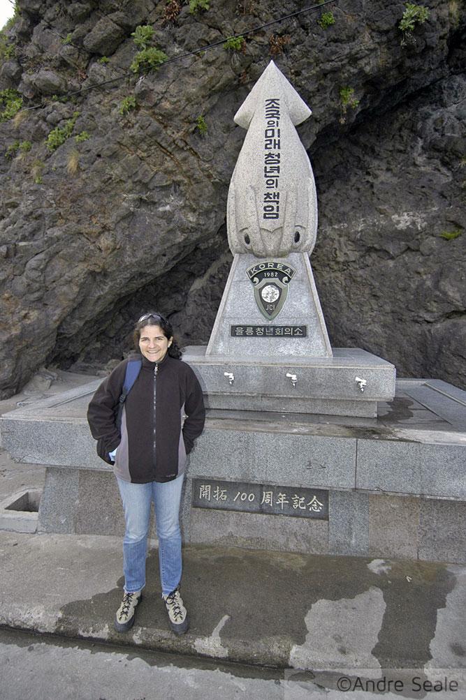 Estátua das lulas - Roteiro em Ulleung-do