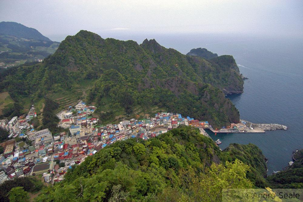Dodong vista de cima - Roteiro em Ulleung-do - Coréia do Sul