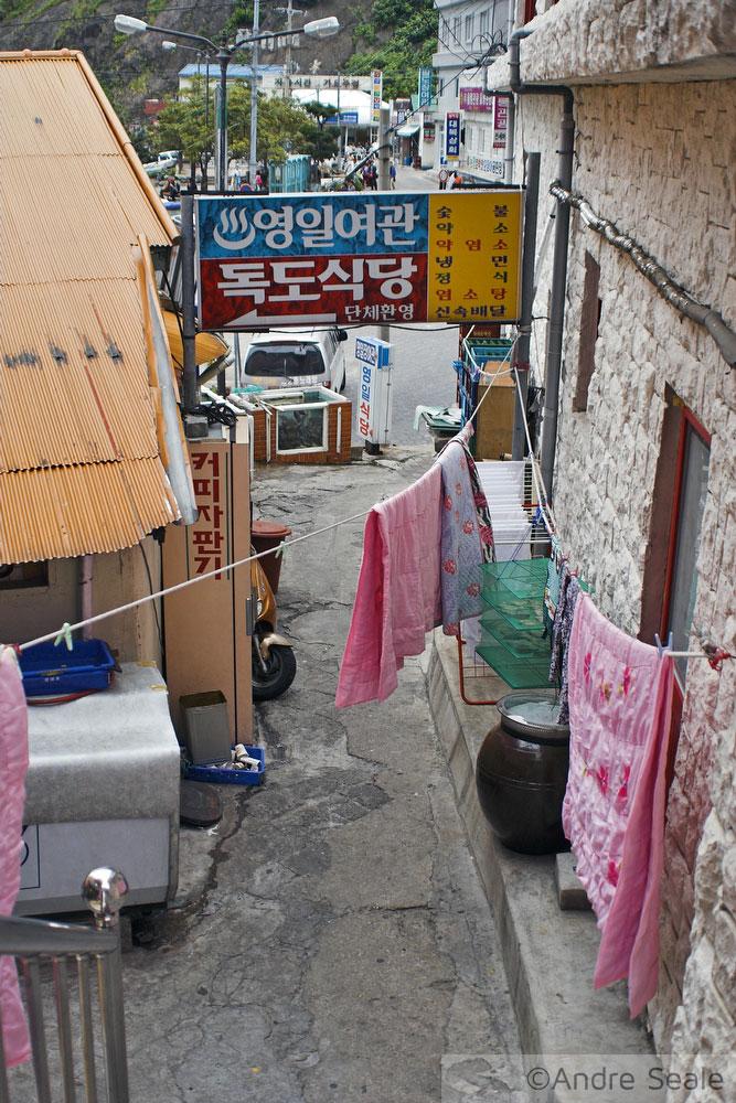 Rua estreita em Dodong - Ulleung-do - Coréia do Sul