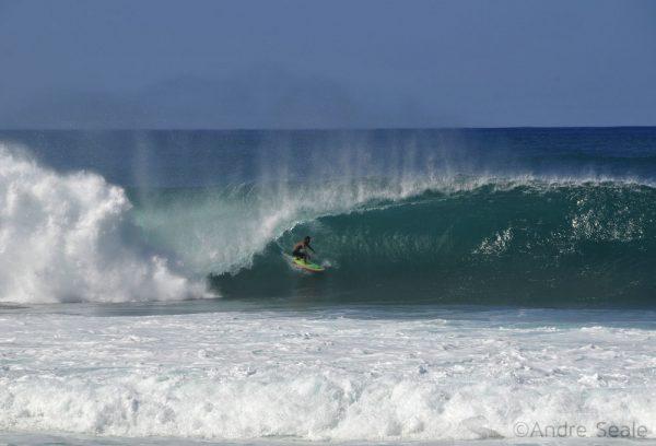 Outono no Havaí - surfe