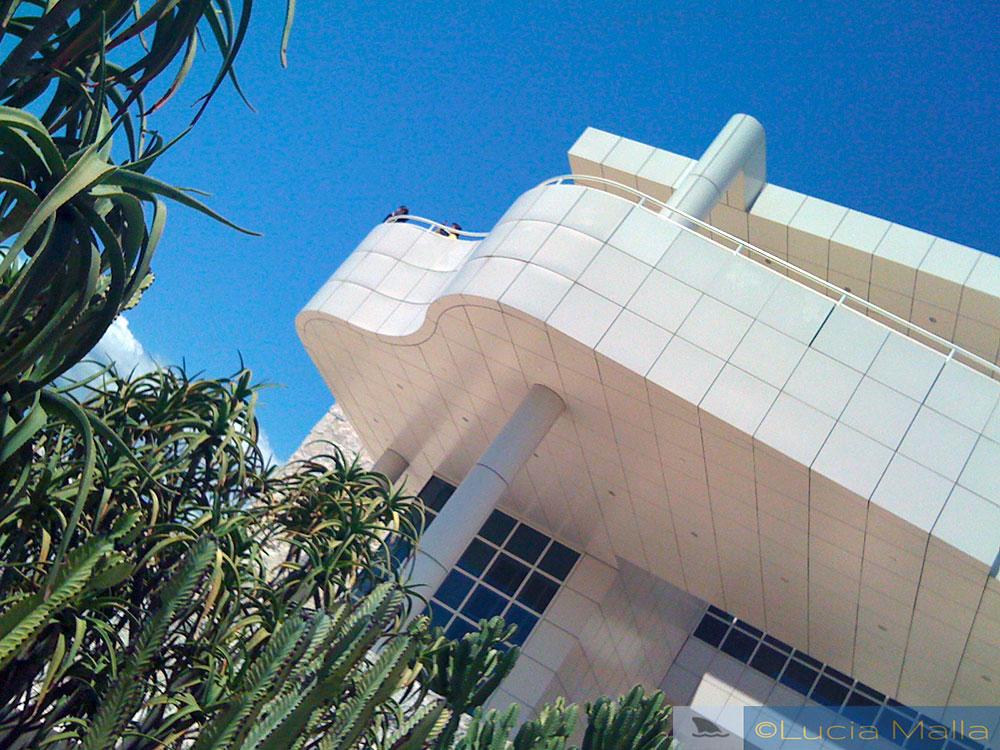 Detalhe da arquitetura do Getty Museum - Los Angeles