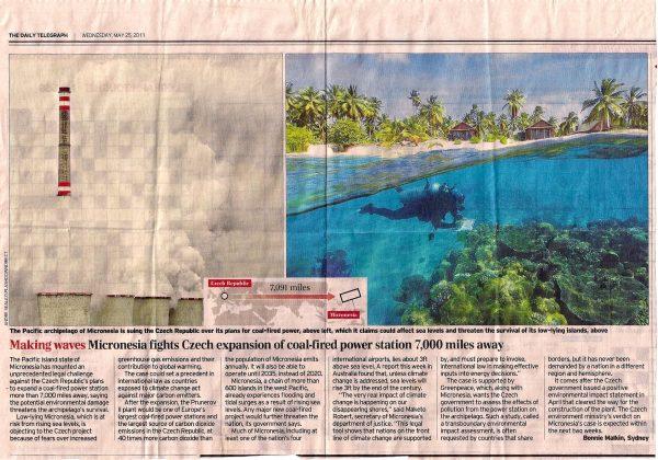 Coincidência no Recorte de jornal - Briga entre Micronésia e República Checa