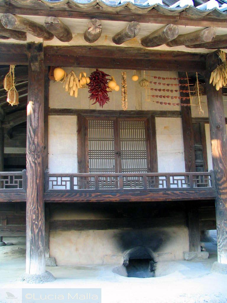 Ondol em casa - vida cotidiana tradicional - Coréia do Sul