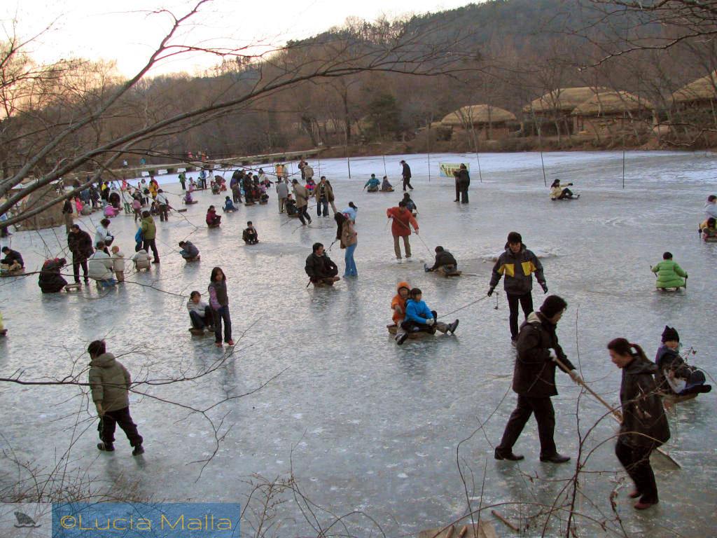 Rio congelado - Coréia do Sul