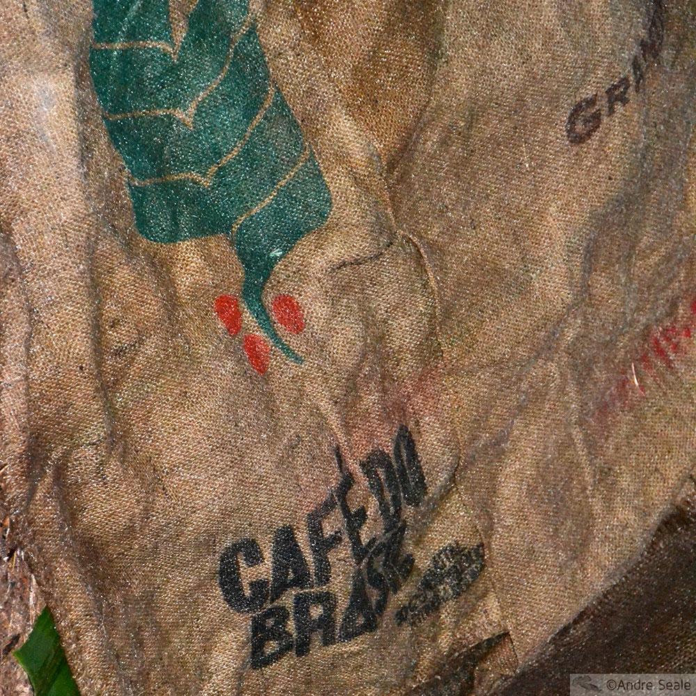 Saco de café do Brasil