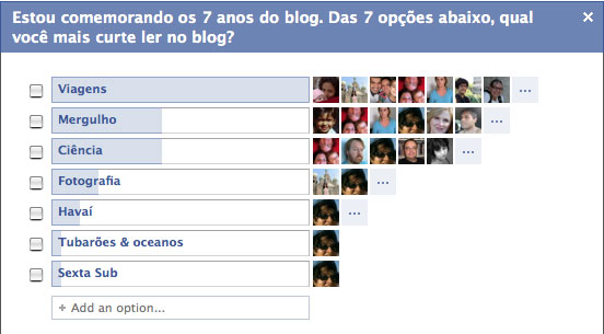 Enquete do Facebook