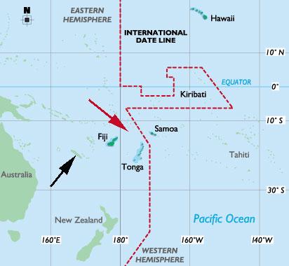 Mapa de Wallis e Futuna