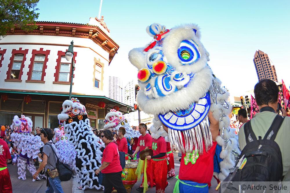 Dança do dragão - Ano Novo Chinês - Honolulu