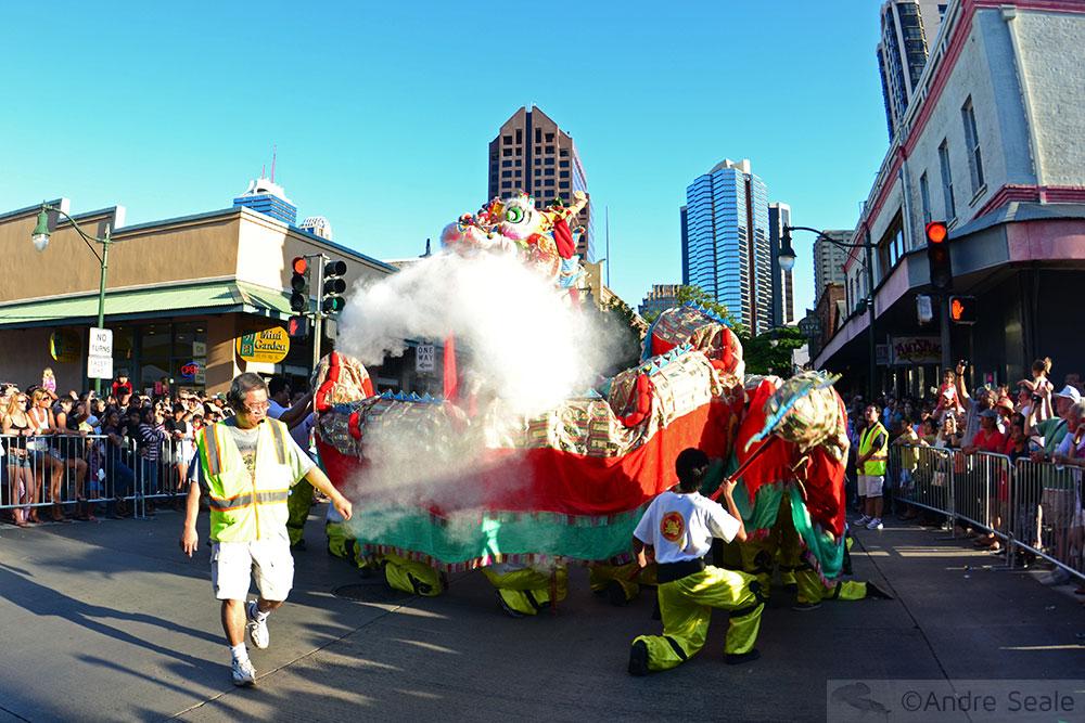 Dragão no Ano Novo Chinês - Honolulu - Havaí