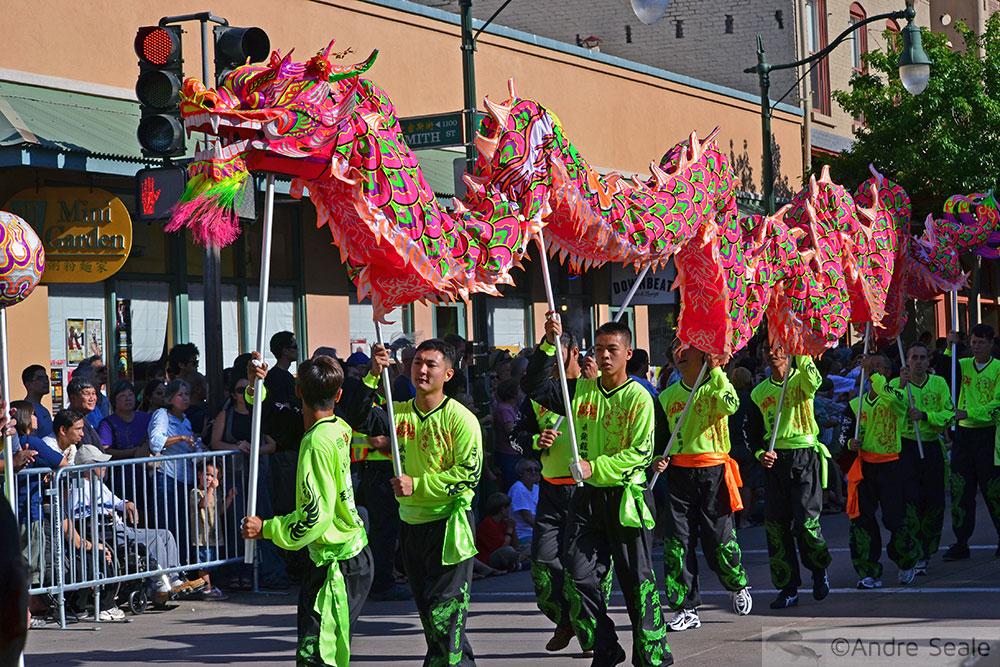Desfile do dragão - Ano Novo Chinês em Honolulu