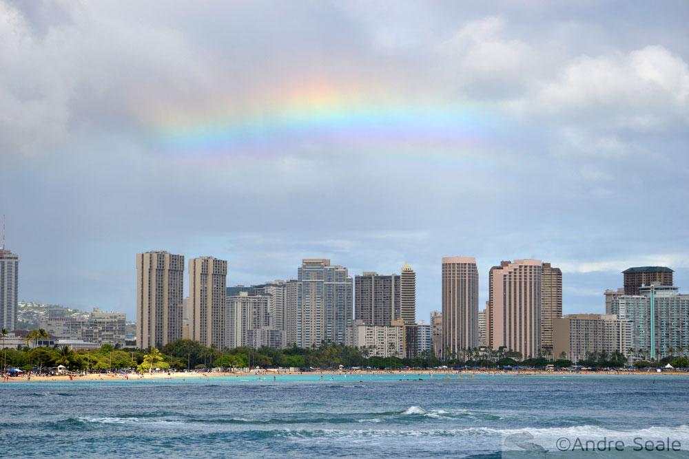 Arco-íris em Honolulu, Havaí