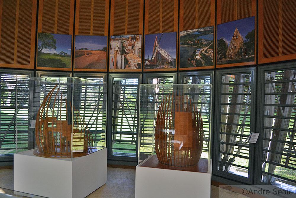Centro Cultural Tjibaou - maquetes arquitetônicas - Noumea - Nova Caledônia