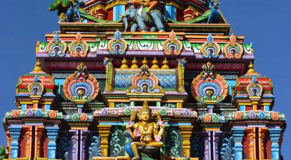 Um templo hindu em Nadi