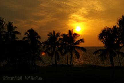 Por do sol no Havaí - viagem do Daniel Vilela