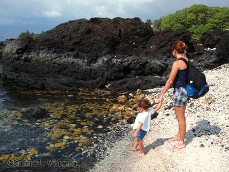 Na praia - Big Island - viagem ao Havaí
