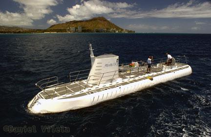 Passeio de submarino em Waikiki - Havaí