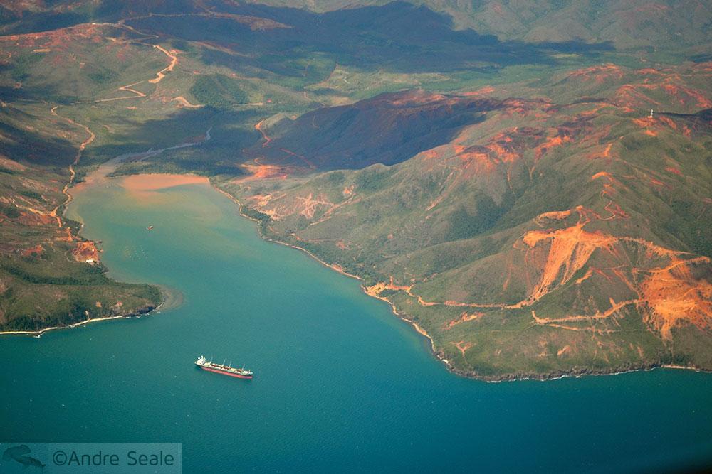 Na costa do níquel - aéreo Nova Caledônia