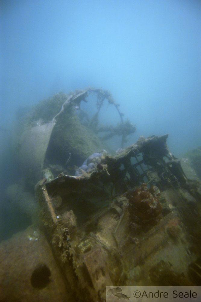Ainda em obras - Zero naufragado japonês
