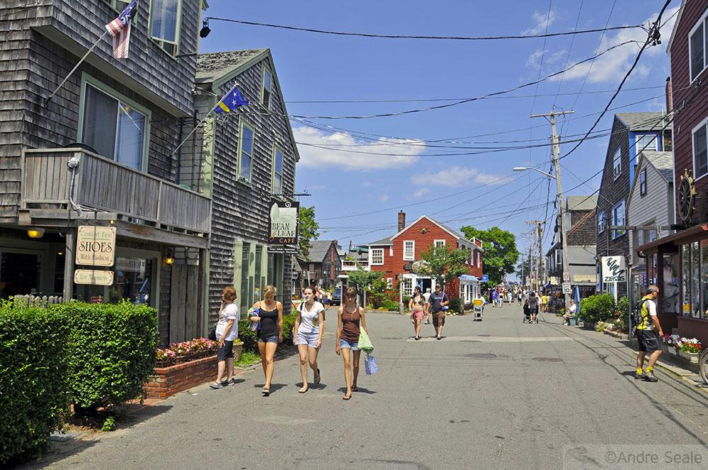 Rua em Rockport - Verão - Nova Inglaterra