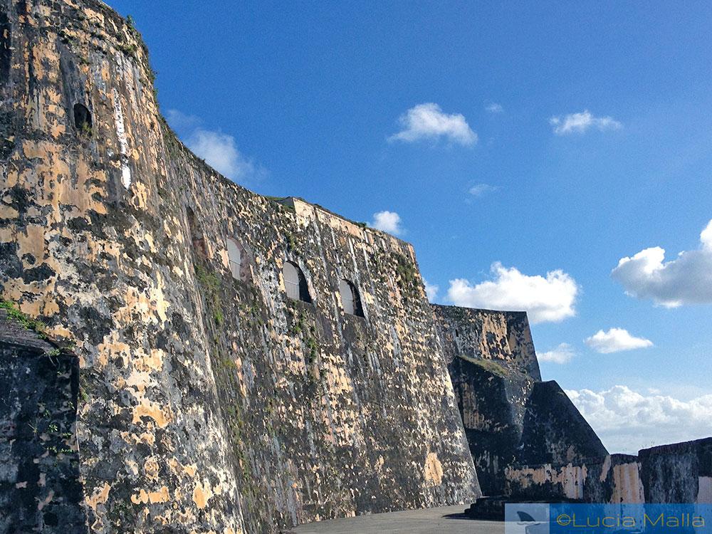 Muralha da fortaleza de San Juan