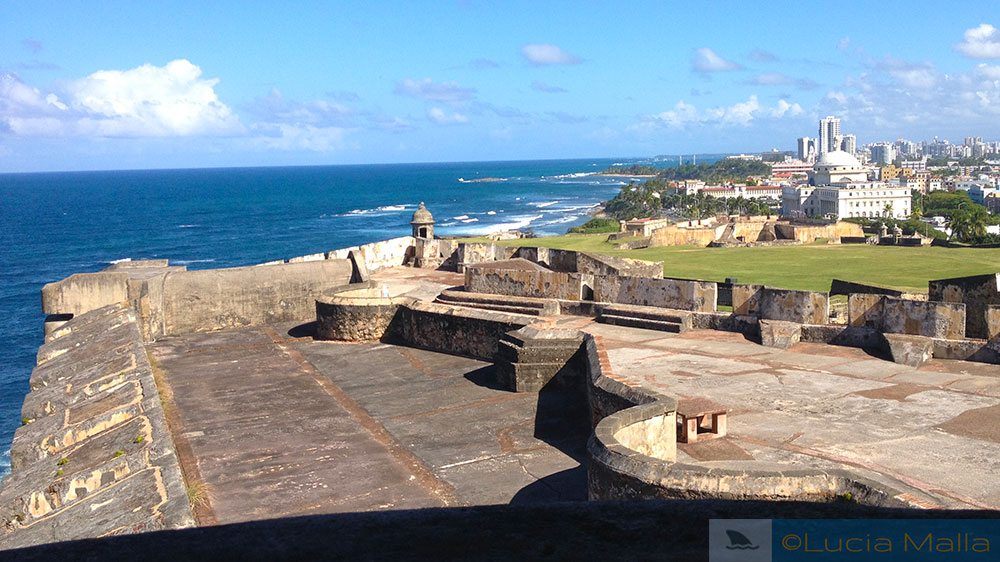 Telhado do Castillo San Cristóbal - San Juan