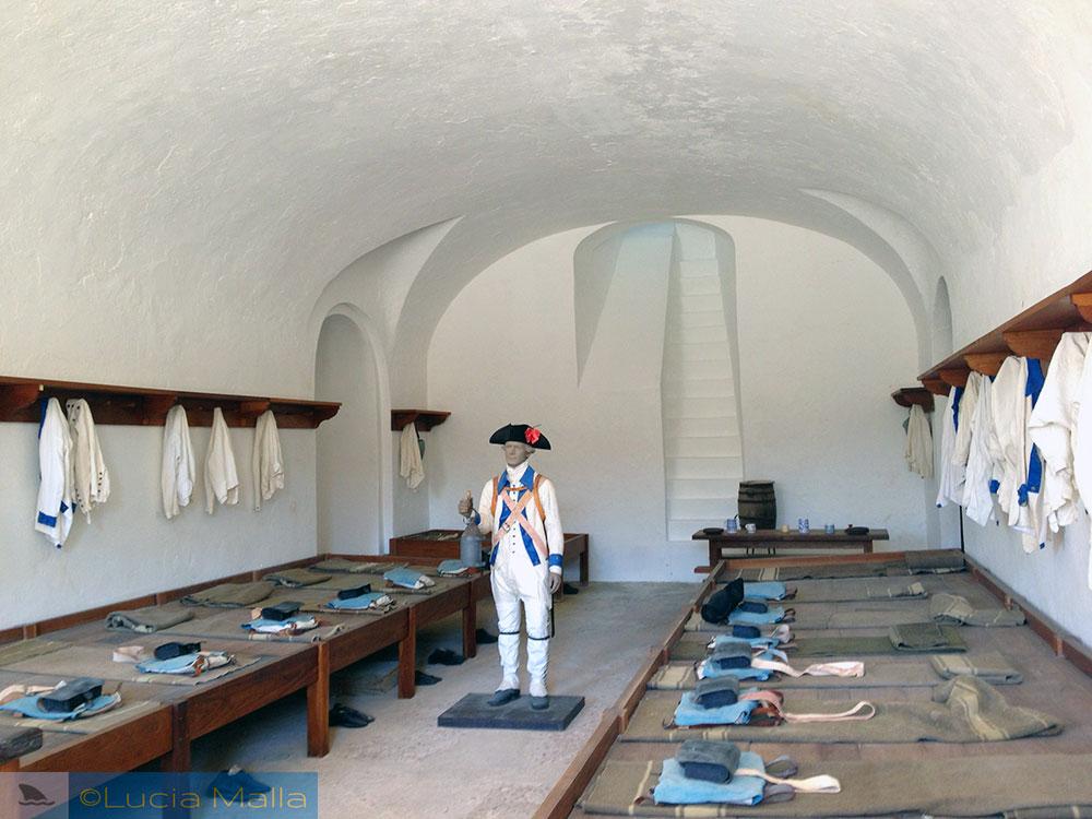 Quarto dos soldados - fortaleza San Juan